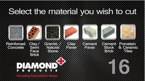 diamond blade selection