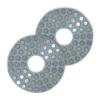 18708300 18708315 Vivace Metal Dot Flexible Pad Web 100x100 - 100mm Metal Velcro Grinding Pad