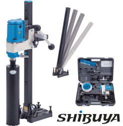 Shibuya Coredrill R1012 (1 speed) Motor and Angle Drill Stand