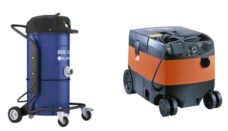 BDC122 and AGP DE25 1 - Dust Collectors - Blastrac BDC 122 and AGP DE25